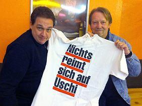Über den Spruch lachten sie schon vor 20 Jahren: Oliver Kalkofe und Dietmar Wischmeyer.