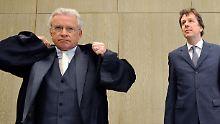 Kachelmann mit seinem Anwalt Schwenn.