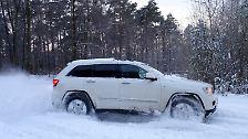Jeep Grand Cherokee V6: Durch den Schnee mit dem Indianer