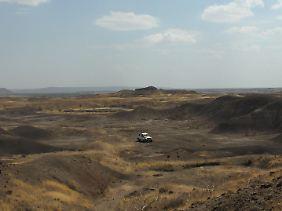 Die Umgebung der Fundstelle bei Hadar in Äthiopien.