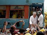 Der Volksheld kehrt zurück: Am 30. Mai 2007 besuchte Gabriel García Márquez zum ersten Mal nach 24 Jahren wieder seine Heimatstadt Aracataca.