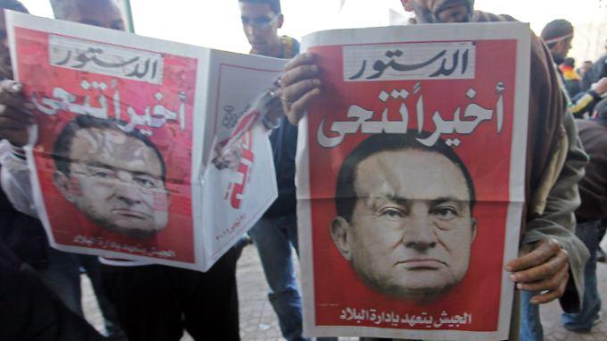 Am Ende ist er doch zurückgetreten, titelt diese ägyptische Zeitung.