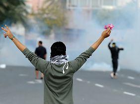Bei den Zusammenstößen in Manama.