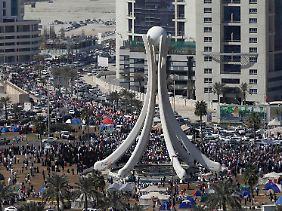 Wieder besetzt: Der Perlenplatz in der Hauptstadt Manama.