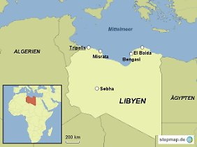 Libyen (Karte von www.stepmap.de).
