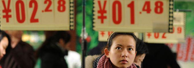 Große Augen beim Gemüsehändler: Die Preise steigen, China verändert sich.