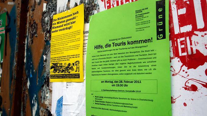 Touris kommen, Mieten steigen - Anwohner klagten zunehmend über Lärm und teure Wohnungen, heißt es bei den Grünen.