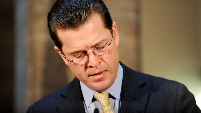 Rückzug: Guttenberg verlässt die politische Front.