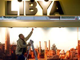 Vielleicht zurzeit nicht der Renner: Halle der Messe Berlin am Stand Libyens.