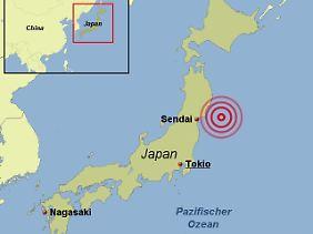 Das Erdbeben mit der Stärke 8,9 vor der Küste Japans hat einen starken Tsunami ausgelöst.