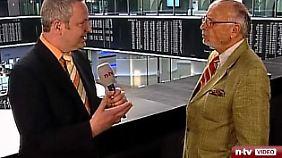Direkt aus der Frankfurter Börse: Frank Meyer diskutiert mit Friedhelm Busch.