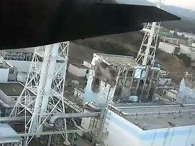Dieses Foto vom Überflug stellte Tepco zur Verfügung.
