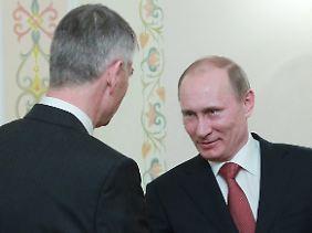 Wladimir Putin mit Jürgen Hambrecht.