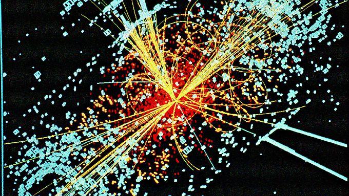 Die Zeichnung zeigt den hypothetischen Zerfall von Hiffs-Teilchen.