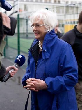 Kurz nach der Stimmabgabe war Ministerpräsidentin Jóhanna Sigurdardóttir noch hoffnungsvoll.