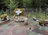 Denkmal am Ort des Hitler-Attentats vom 20. Juli 1944 in der früheren Wolfsschanze von Rastenburg (heute Ketrzyn).