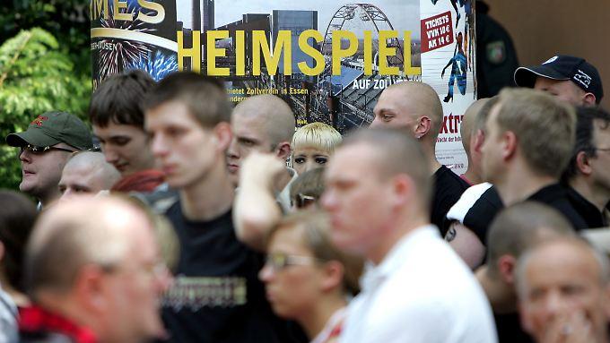 Aufmarsch von Neonazis in Gelsenkirchen (Archivbild)