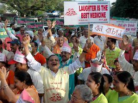 Auch in Indien wird der Weltlachtag begangen.