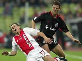 Thomas Linke (rechts) spielte in seiner aktiven Zeit u.a. beim FC Bayern München.