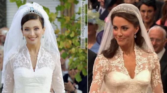 Traum aus cremefarbener Spitze: Ist Kates Hochzeitskleid ein Nachbau?