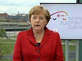 Zuversicht per Video-Botschaft: Angela Merkel.