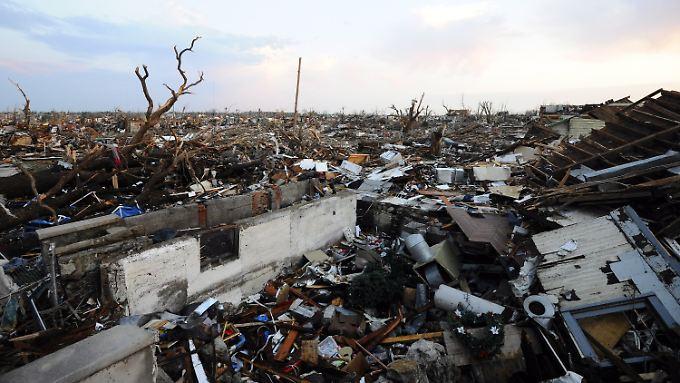 Auf einer Schneise von einem mal zehn Kilometer ist in Joplin praktisch alles zerstört.