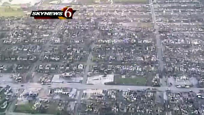 Ganze Stadtviertel wurden zerstört.