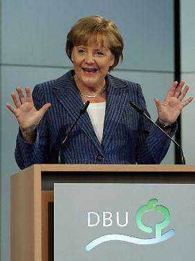 """Bundeskanzlerin Merkel möchte möglichst schnell aus der Kernenergie aussteigen, sich jedoch immer """"am Machbaren orientieren""""."""