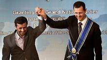 Brüder im Geiste: Irans Präsident Ahmadinedschad und sein syrischer Kollege Assad.