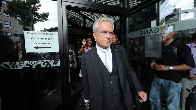 Johann Schwenn vor dem Gericht in Mannheim.