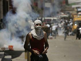 Auch die Kalandia-Militärsperre im Westjordanland war Ziel der Proteste.