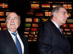 IOC-Präsident Jacques Rogge (r.) ließ die Chance ungenutzt, die FIFA und Joseph Blatter in der Causa Havelange unter Druck zu setzen.