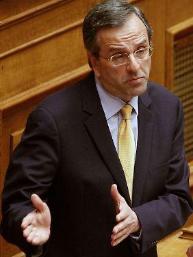 Oppositionsführer Antonis Samaras kritisierte den Ministerpräsidenten scharf.