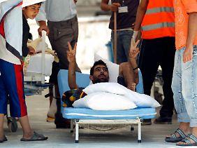 Ein verwundeter Syrer wird in der Türkei behandelt.