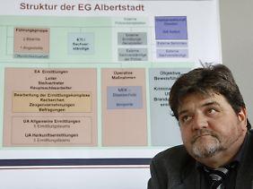 """Wolfgang Jehle ist Leiter der Ermittlungsgruppe """"Albertstadt"""" im Landeskriminalamt."""