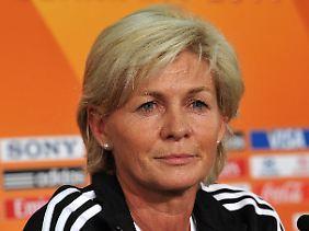 Silvia Neid geht entspannt in das Turnier.