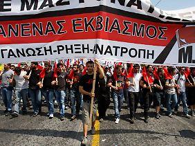 Brisante Lage in Athen: Das Lager der Gemäßigten sieht sich einer wachsenden Zahl an Unzufriedenen gegenüber.