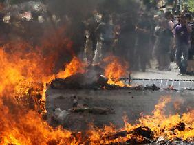 Massive Ausschreitungen in Athen.
