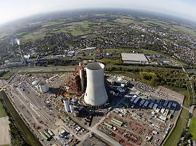 Die Baustelle des neuen Kohlekraftwerks in Datteln.
