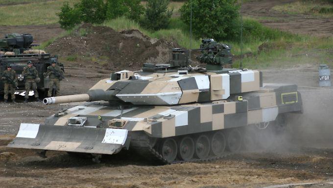 Von saudischem Interesse: Der Kampfpanzer Leopard 2.