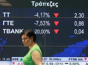 In Athen wächst die Spannung: Woher soll das Geld für die Durchfaller kommen?