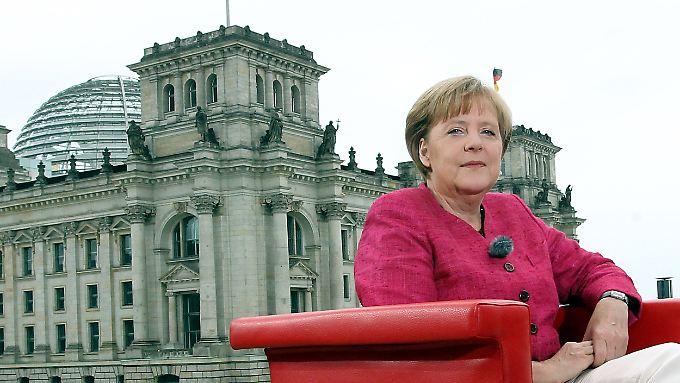 Merkel war zum Interview angetreten, um ihre politischen Positionen deutlich zu machen.