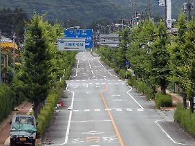 Die Ortschaft Ohkuma-cho ist 20 Kilometer vom AKW entfernt - und verlassen.