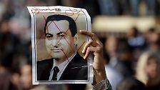 """Mubarak im Metallkäfig: Der """"Pharao"""" ist tief gestürzt"""