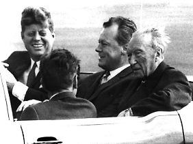 US-Präsident John F. Kennedy bei seinem Berlin-Besuch 1963.
