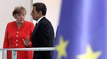 Angela Merkel und Nicolas Sarkozy: Krisengespräch zur Krise an den Finanzmärkten? (Archivbild)