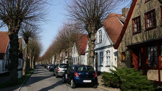 Die Lange Straße in Arnis bringt es auf 600 Meter, das ist für die kleine Stadt schon ein Längenrekord.
