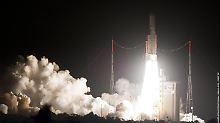 Satelliten ins All gebracht: Ariane erfüllt Mission