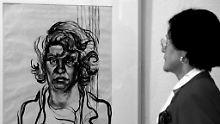 Selbstporträt der Künstlerin Elfriede Löhse-Waechter. Sie wurde von den Nazis wegen Schizophrenie deportiert und getötet.