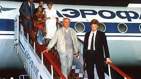 Michail Gorbatschows Rückkehr nach Moskau am 22. August 1991.